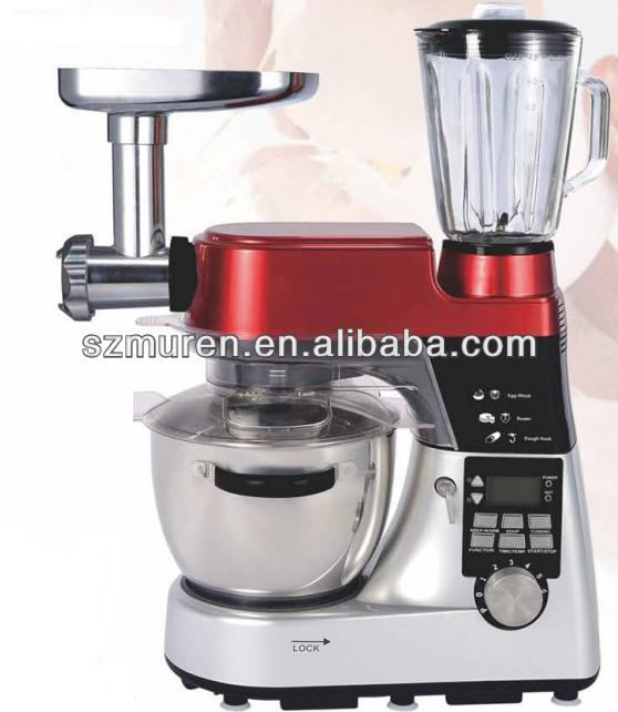 1200W Kitchen heating Stand mixer with 5.5L rotating bowl