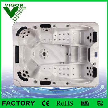 Factory price hydro massage outdoor spa with overflow /JY8002 free sex usa hot tub