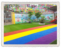 colourful artificial turf/grass for kindergarten playground/field best price