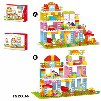 plastic flower building block bricks series (142 pcs)