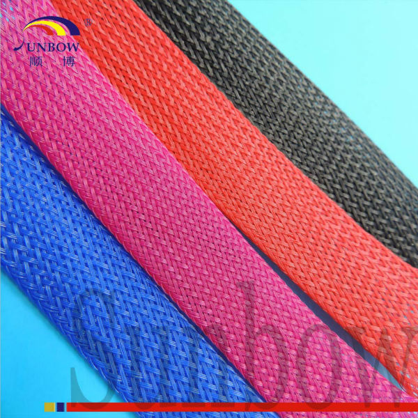 Colored braided sleeving for computer wire harness
