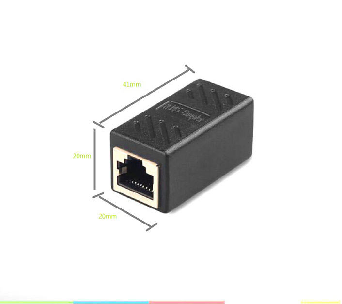 RJ45 Coupler Network Ethernet Cable Extender Adapter Inline Coupler 8P8C Modular jack Connector