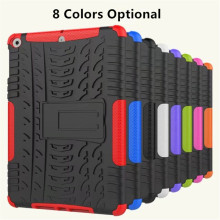 3D grain tire style 2 in 1 shockproof stand cover for ipad mini 4 3 2 1 tablet case
