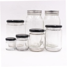 Stocked Food storage 1oz 3oz 6 oz 12 oz 16oz 26oz <strong>Glass</strong> <strong>Jar</strong> with Lids