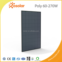 New Photovoltaic Technology 60 cells black poly 270W Solar Module for solar electric power | Solar Module