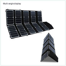 65W dual output sunpower solar panel for camping hiking and travelling
