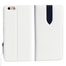 Noble flip leather case for iPhone 6 plus with 3 card slots and stand