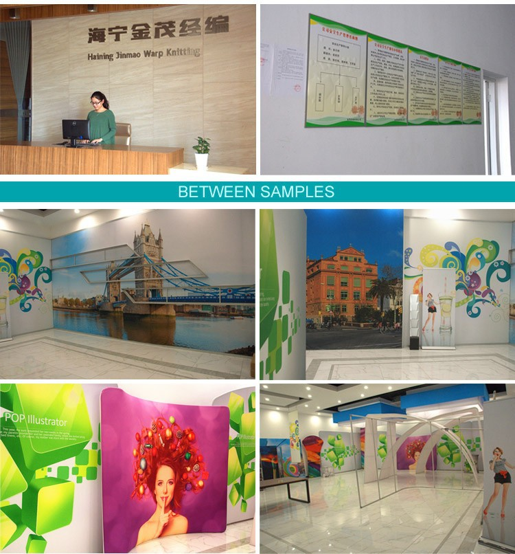 Popular sublimation printing indoor advertisement 260 gsm knitted textile fabric light-box