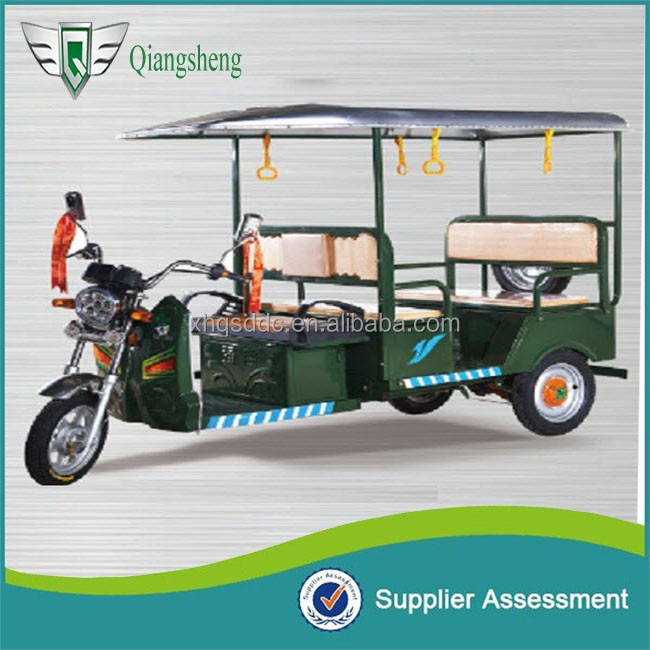 Opened body adult electric tricycle with canopy and tarpaulin