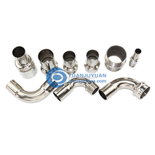 stainless steel pipe fittings food grade 304 stainless steel elbow reducing type
