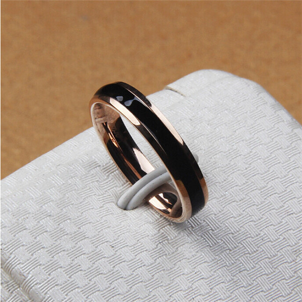 Yiwu Aceon stainless steel Fashion Women Black Ceramic Jewelry Ring