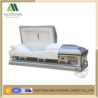Burial products stainless steel casket bier