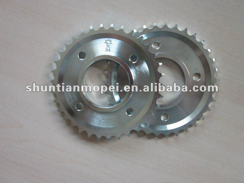 V730 motorcycle rear and front sprocket
