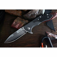 vg10 damascus folding knife with G10 handle,damascus folding knife