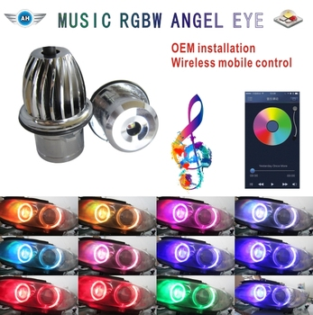 NEW DESIGN! RGBW Led marker angel eyes with wifi control for b_m_w E90 E92 E60 E61