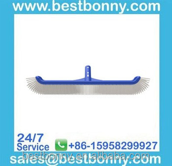 "18"" corner curved pool wall brush with telescopic handle"