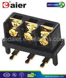 Daier KAR 503 3way Gold Plated Terminal Block Screw Pluggable Terminal Block