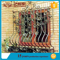 Allibaba.com high quality and Exquisite Wrought Iron Window Grill Design/cheap house window for sale/forged iron window art