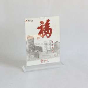 Custom acrylic A4 A6 table tents label signs A5 clear plastic sign holder/label holder