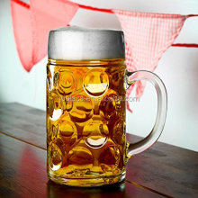 1 Liter Dimpled Glass Beer Stein Oktoberfest German