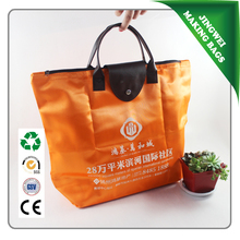 Promotional green recycled folding bag,recycled folding bag,