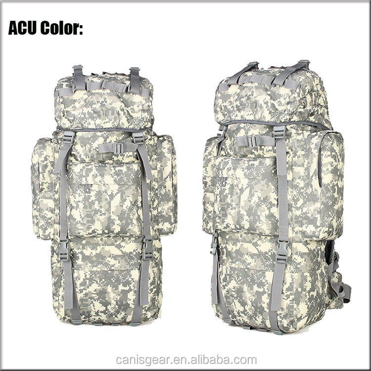 OEM 65L Super Light Camping Hiking Trekking Camo Heavy Duty Molle Assault Pack Camo Backpack