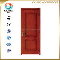 Interior oak wood veneer panel main door design