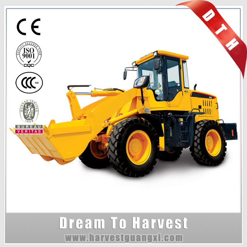 China Made New Front Wheel Loader With Standard bucket / Snow Blower