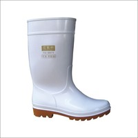 PVC knee high rain boots for work