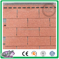 Decoration of slope roofing waterproofing coloured glaze insulation asphalt shingles made in China