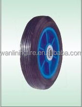 Flat Free Solid Rubber Tire and Poly Wheel 8 inch for Wheel barrow
