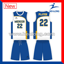 sublimation custom made basketball apparels for team