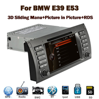 "7""Capacitive Touch Screen Autoradio gps dvd for BMW E39 E53 3G Bluetooth Radio RDS USB IPOD Steering wheel control Canbus"