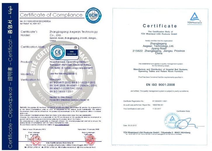 CE certificate photo