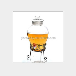 2016 Hot Sale giant airtight 10l glass jars with tap in wholesaler
