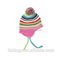 High quality cute custom beanit hat with ear muff for baby