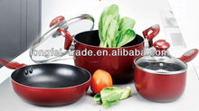 Suitable For Kinds Of Cooker Aluminum Non-stick Induction Cookware Set