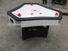 3 person air hockey table with trilateral style