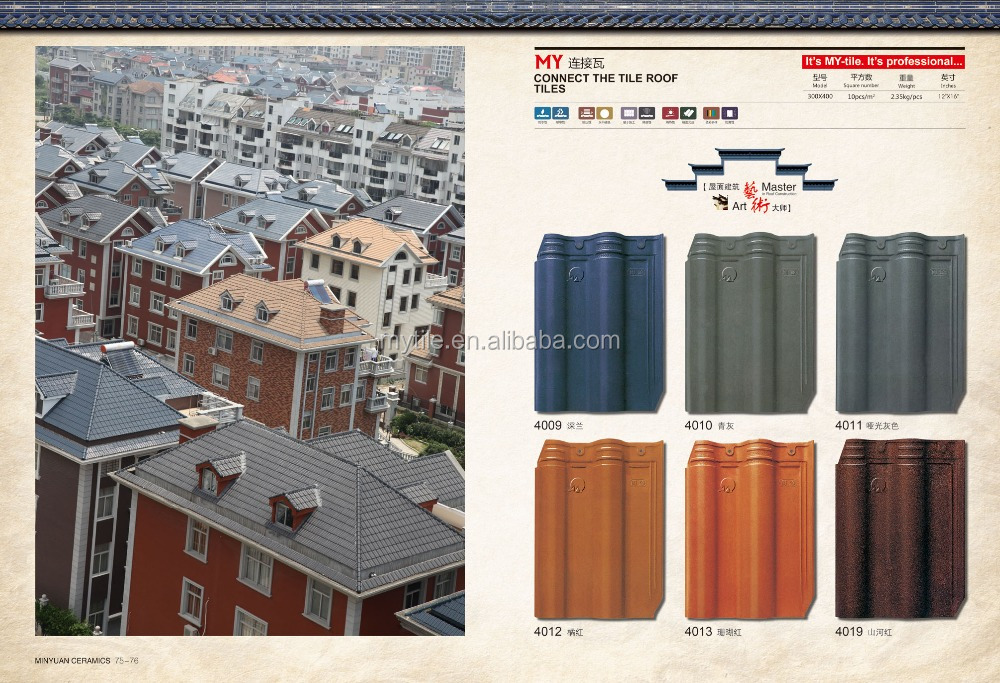 Minyuan Fast Moving Blue Gray kerala Roof Tiles