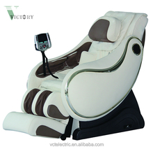 Full body pu leather cover L shape full 3D zero gravity massage chair motor parts