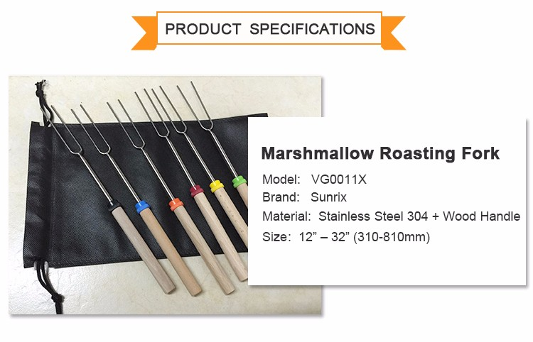 32 inch Telescopic Marshmallow Roasting Sticks, Marshmallow Roasting sticks set