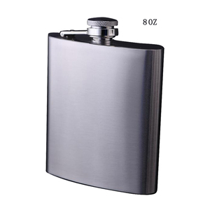 Mens hip flask stainless steel flasks promotion gifts liquor used 8 OZ FDA certificated