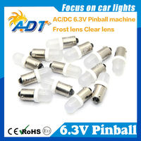 2018 Hot selling Frosted Lens AC/DC 6.3V BA9S #44 #47 AC 6.3V pinball led bulb