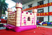 0.55mm PVC Pink Witch Inflatable Bouncy Castle for Girls