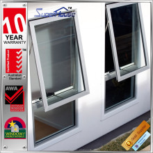 Aluminium frame insulated black double glazed window australia awning windows with screen