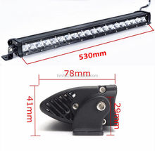 22'' Slim 100W Flood Single Row LED Driving Work Light Bar 4x4 Offroad Jeep