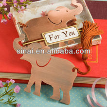 Wedding Favors / Lucky Elephant Metal Bookmark