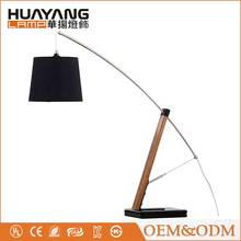 Creative nature farbic lampshade decoration design modern wood table lamp