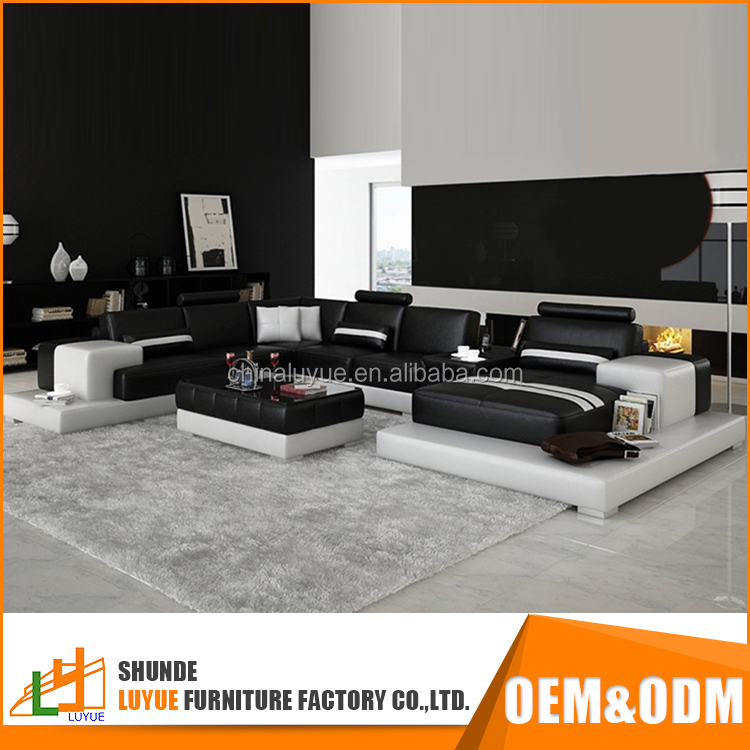 best price modern design l shape comfortable genuine leather cheap sofa cum bed