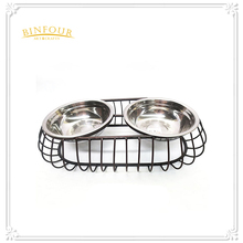 metal black pet bowls dog feeder dog bowl stand